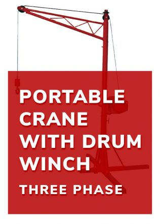 Portable Crane with Drum Winch (3 Phase)