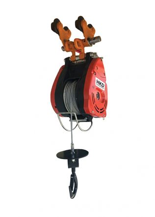 HKD Monorail Mini Winch with Plain Trolley (Single Phase) – HKD-60-300A